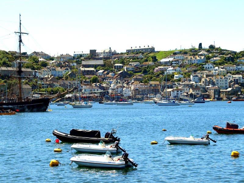 Polruan, Cornwall royalty-vrije stock foto's
