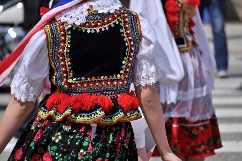 Polsk folkdräkt royaltyfria bilder