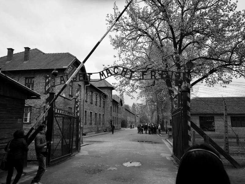 Polsk koncentrationsläger royaltyfri fotografi