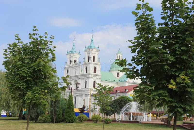 Polsk kostel i Grodno arkivbilder