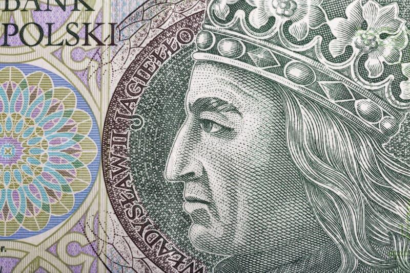 Polsk pengarräkning hundra zlotymakro arkivbilder