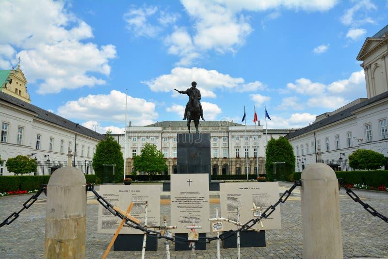 Polsk presidentpalats i Warszawa arkivfoton