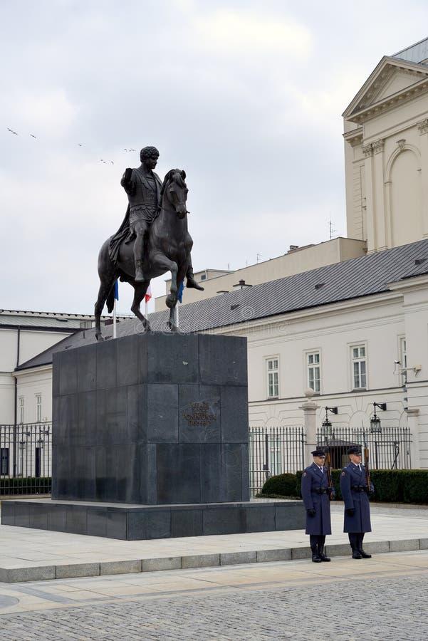 Polsk presidentpalatset arkivbild