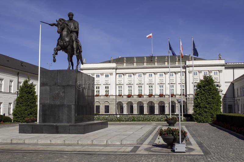 Polsk presidentpalatset. royaltyfri foto