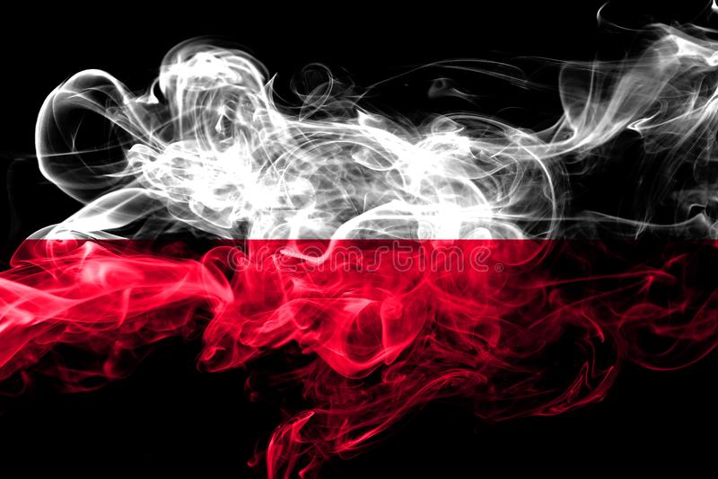 Polska dymienia kolorowa flaga 2018 fotografia royalty free