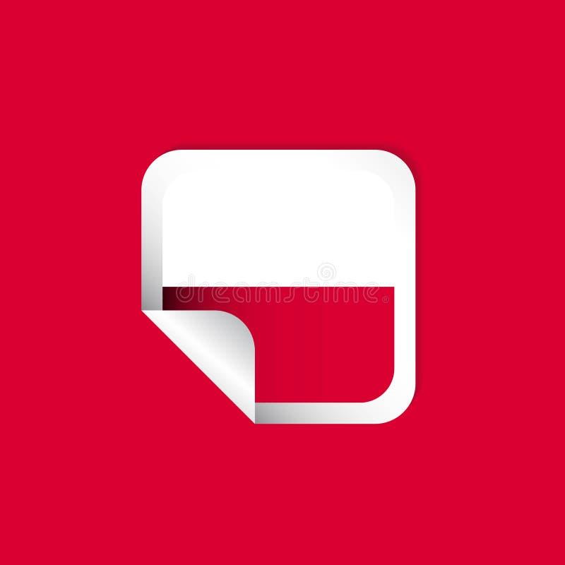 Polska etykietki flag projekta Wektorowa ilustracja ilustracja wektor