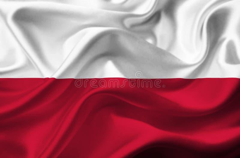 Polska falowania flaga zdjęcia royalty free