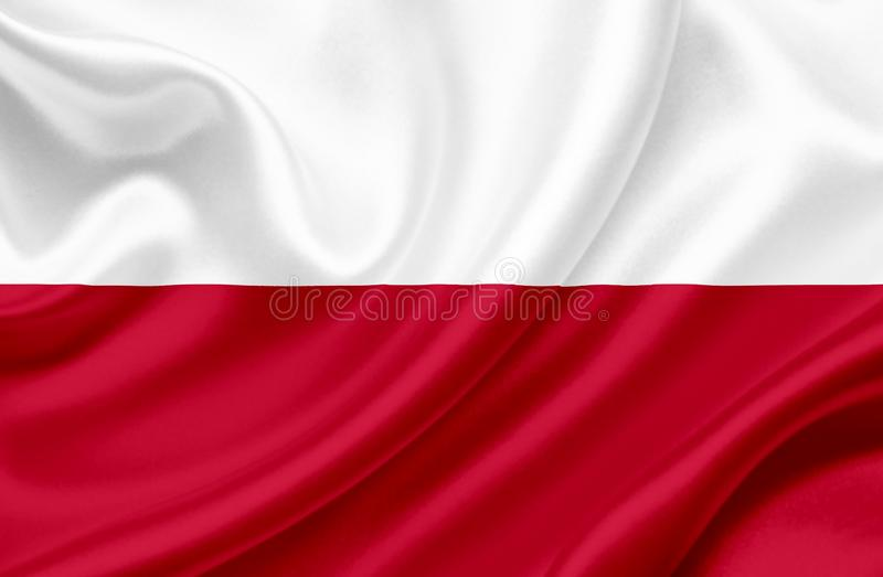 Polska falowania flaga zdjęcie royalty free