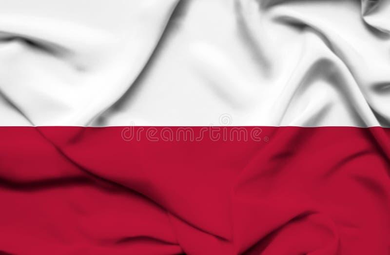 Polska falowania flaga royalty ilustracja