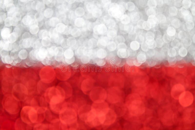 Polska flaga zdjęcia stock