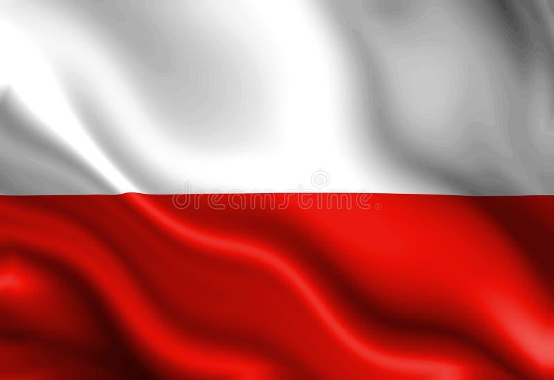 Polska flaga royalty ilustracja