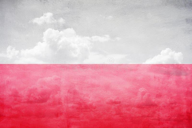 Polska flaga ilustracja obraz stock