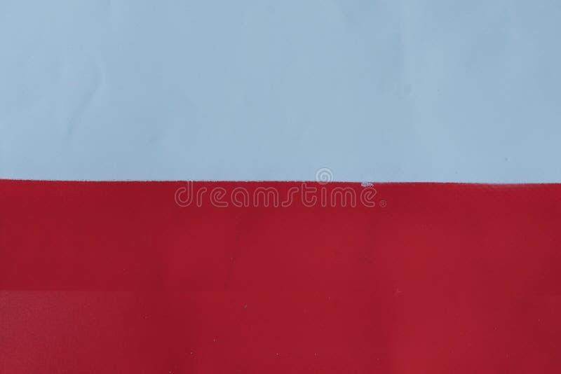 Polska flaga malująca z kiści farbą obraz stock