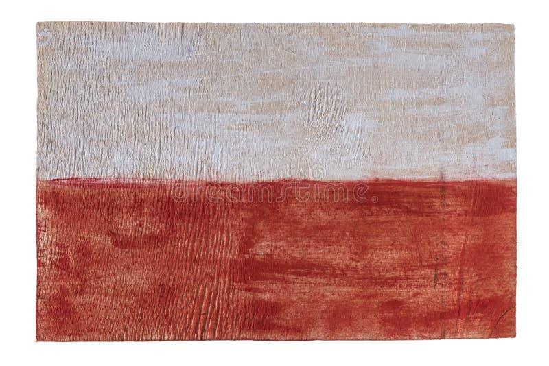 Polska flaga na drewnianym tle obrazy royalty free