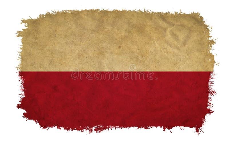 Polska grunge flaga obrazy stock