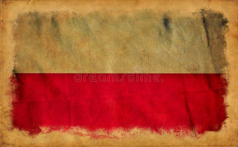 Polska grunge flaga fotografia royalty free