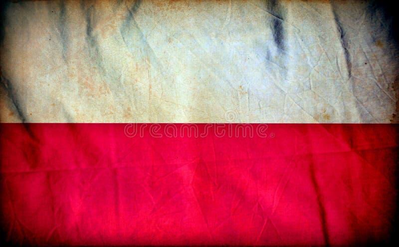 Polska grunge flaga zdjęcia stock