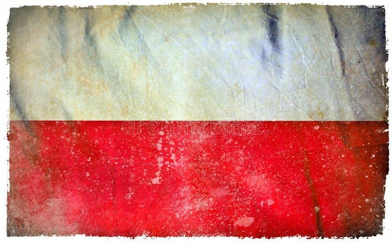 Polska grunge flaga zdjęcie royalty free