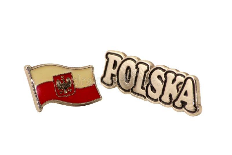 Polska lapel pins stock photography