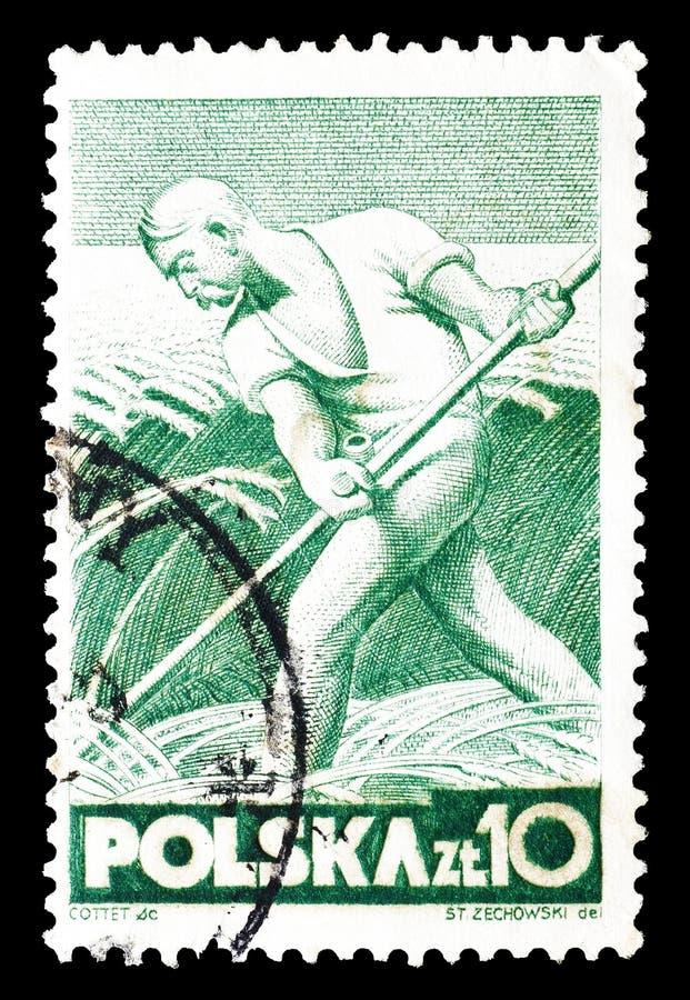 Polska na znaczkach pocztowych obraz stock