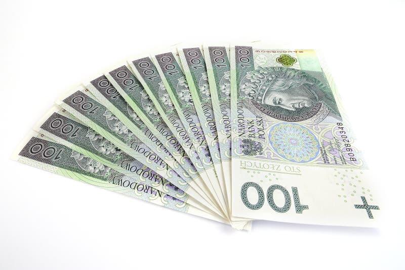 Polska pengar tusen royaltyfri bild