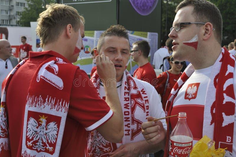 Polska piłki nożnej fan obraz royalty free