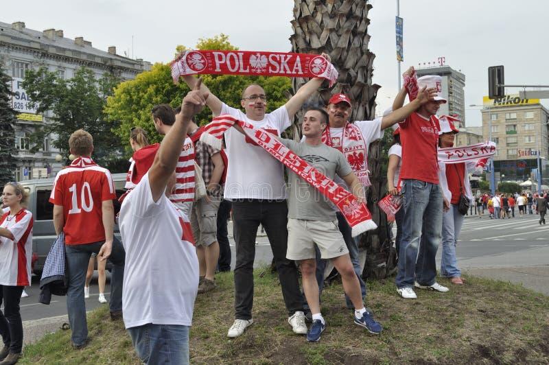 Polska piłki nożnej fan obraz stock