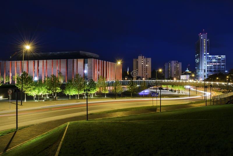 Polska radio krajowe orkiestra symfoniczna w Katowickim zdjęcie royalty free