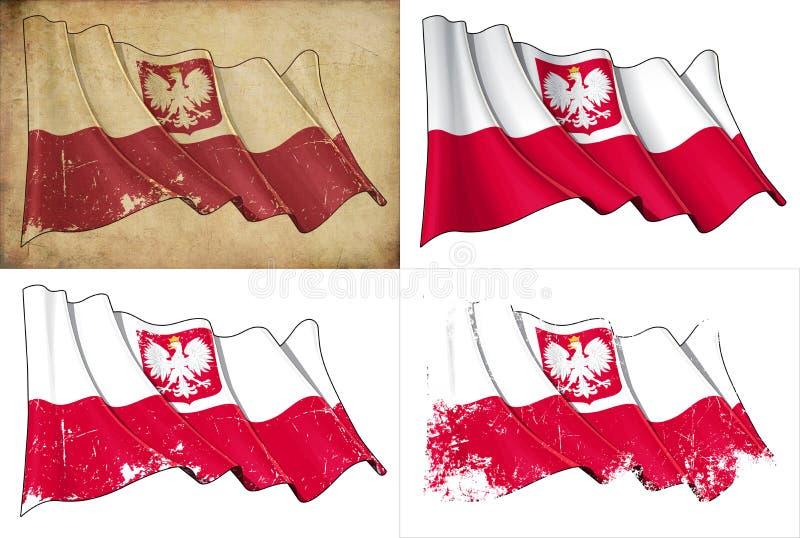 Polska stan Flaga royalty ilustracja