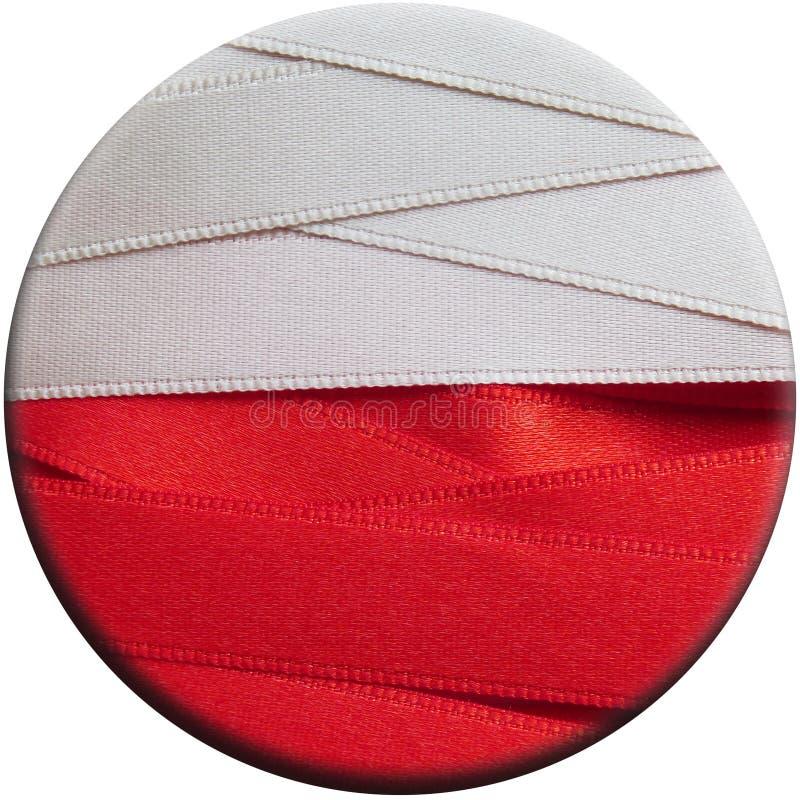 Polska sztandar lub flaga zdjęcie stock