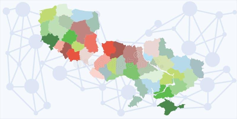 Polska Ukraine regiony ilustracja wektor