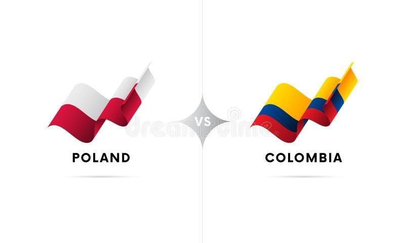 Polska versus Kolumbia Futbol również zwrócić corel ilustracji wektora ilustracja wektor