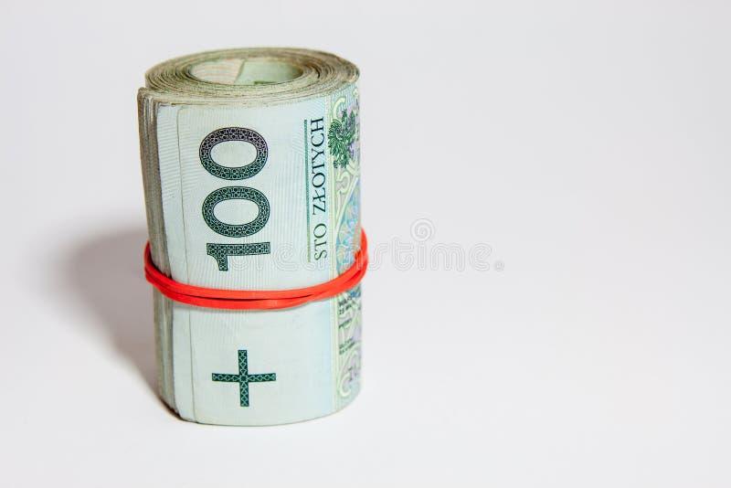 Polska waluta Polski złoty - PLN - obraz stock