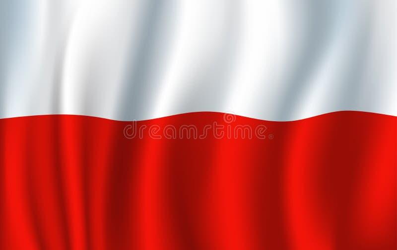 Polska wektoru 3D flaga tła krajowy symbol ilustracja wektor