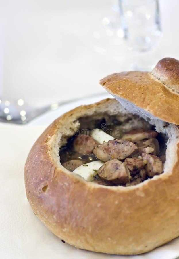 polski chlebowa miski zupy obraz stock
