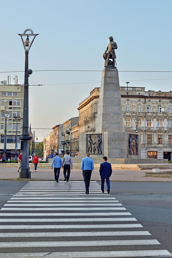 Polski miasteczko Łódzki, Polska zdjęcia royalty free