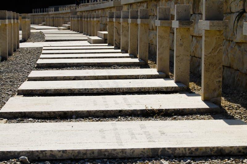 Polski WWII cmentarz Monte Cassino, Włochy - zdjęcia stock
