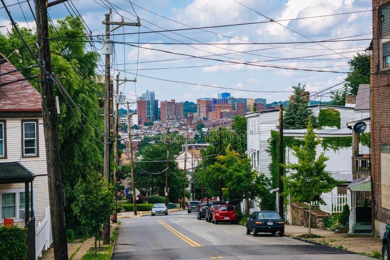 Polski wzgórze w Pittsburgh, Pennsylwania fotografia stock