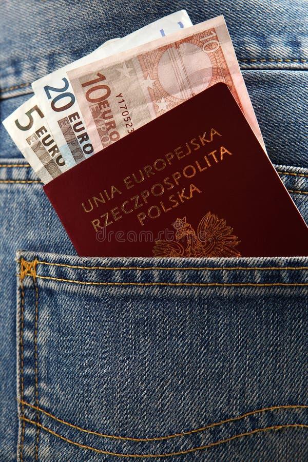 Polskt pass arkivfoton