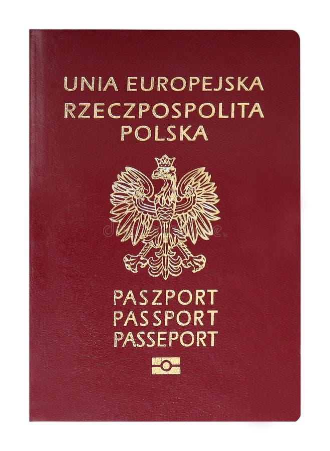 Polskt pass royaltyfri foto