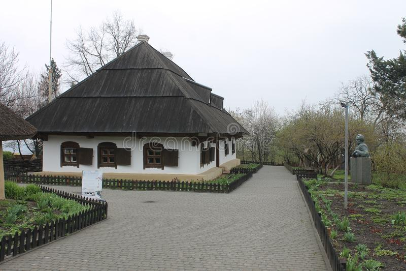 Ethnographic museum in Poltava, Ukraine. Traditional old ukrainian house. royalty free stock photos