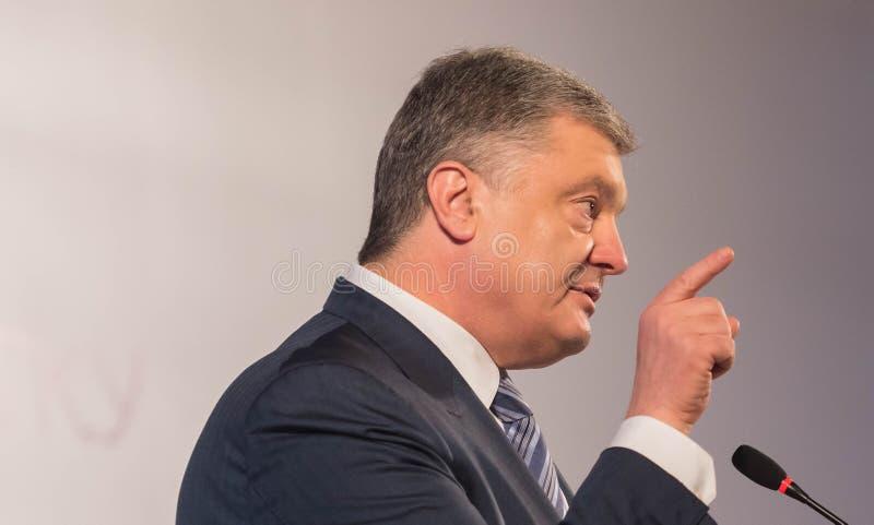 President of Ukraine Petro Poroshenko. POLTAVA, UKRAINE - MARCH 16, 2019: President of Ukraine Petro Poroshenko during meeting of the Council for Regional stock image