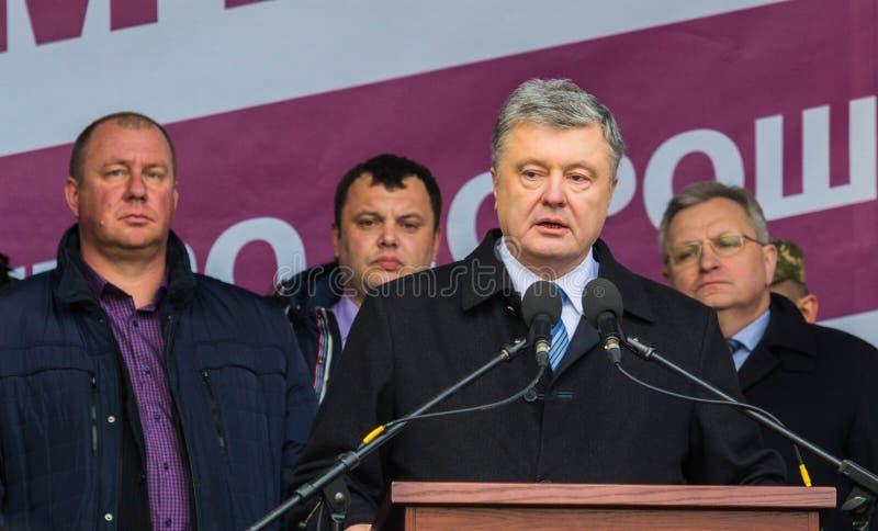 President of Ukraine Petro Poroshenko. POLTAVA, UKRAINE - MARCH 16, 2019: President of Ukraine Petro Poroshenko during meeting of the Council for Regional stock images