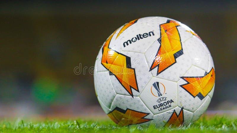 Official UEFA Europa League ball stock image