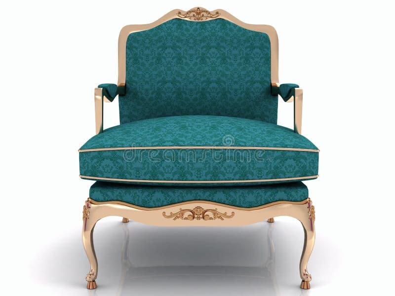 Poltrona à moda clássica azul ilustração royalty free