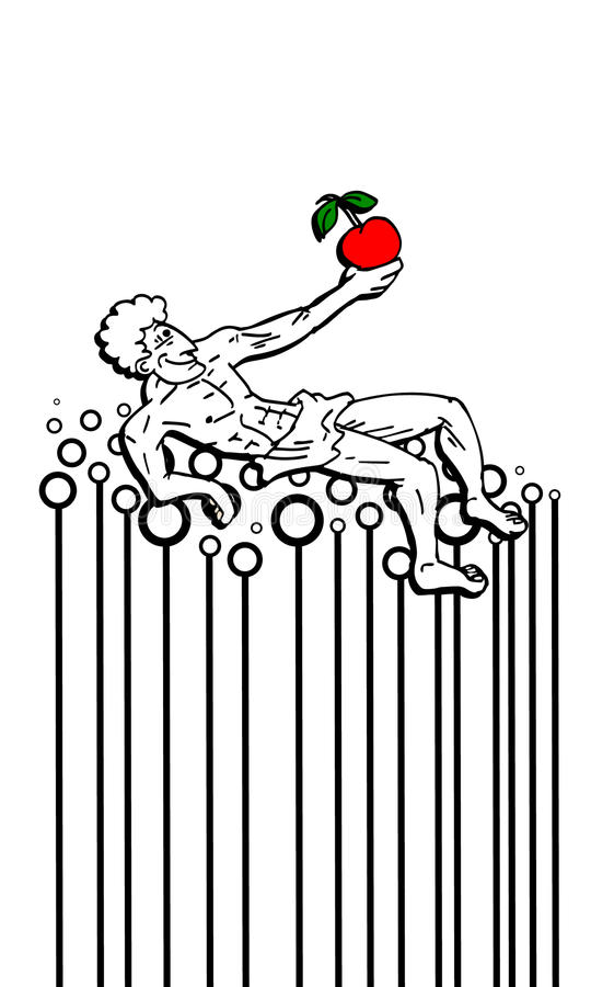 Poltrona abstrata ilustração royalty free