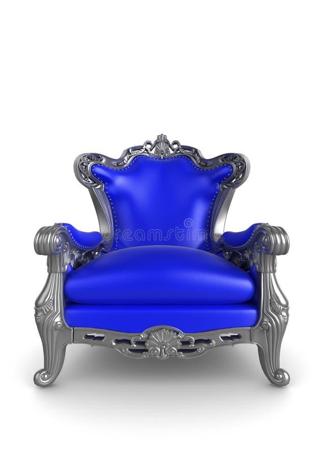 Poltrona antiga azul ilustração do vetor