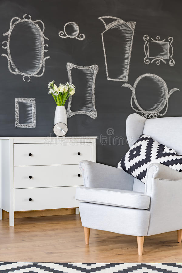 Poltrona branca confortável fotos de stock royalty free