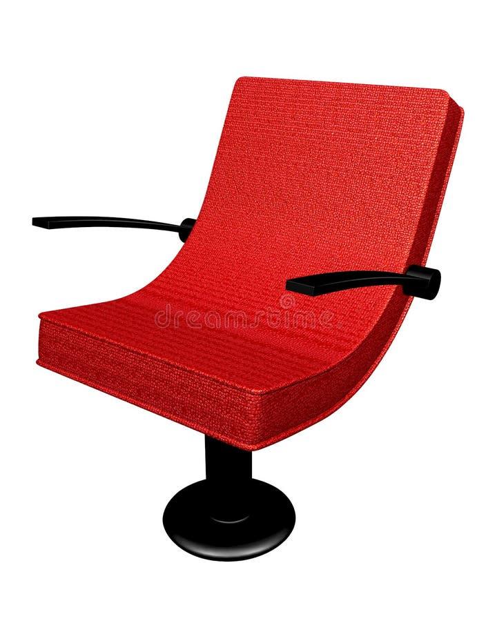 Poltrona di cuoio moderna - rosso royalty illustrazione gratis