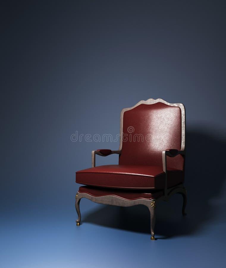 Poltrona di cuoio rossa fotografia stock libera da diritti